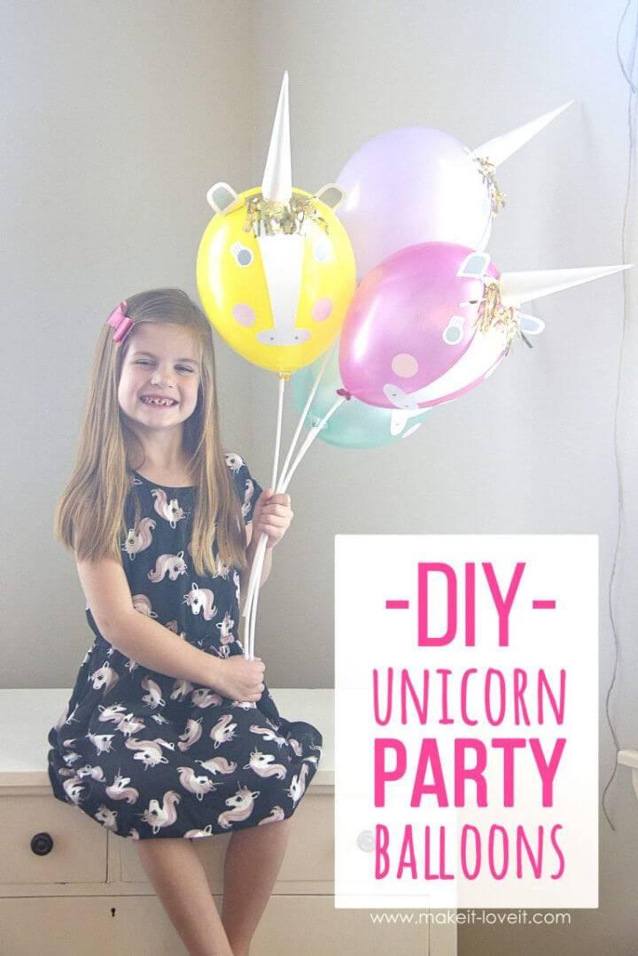 Make Unicorn Party Balloons