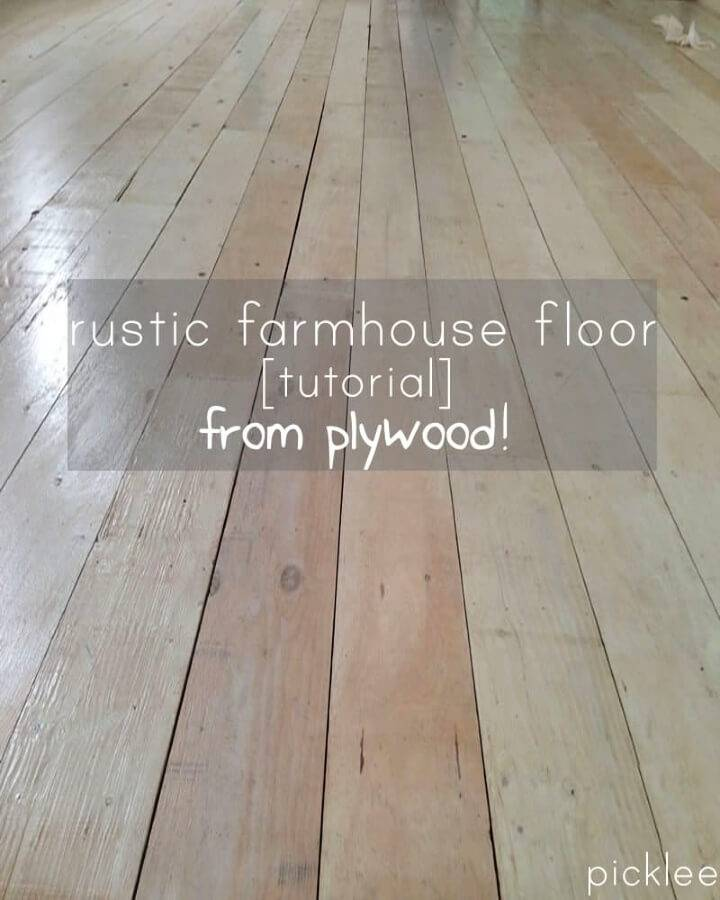 Make Wide Plank Floor from Plywood