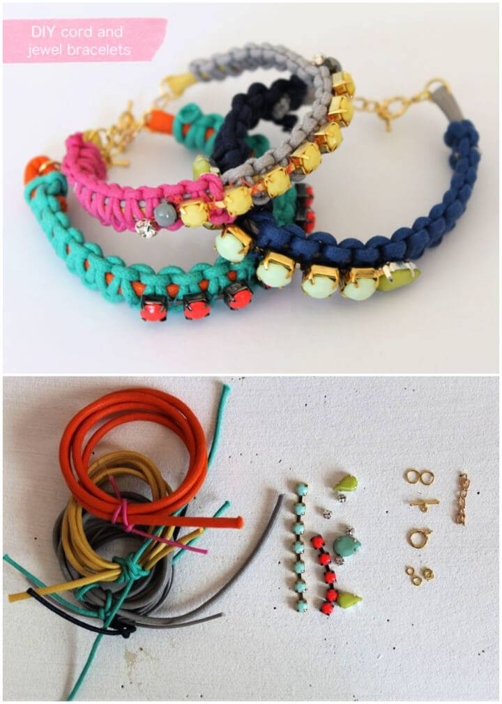 Make You Own Cord and Jewel Bracelet