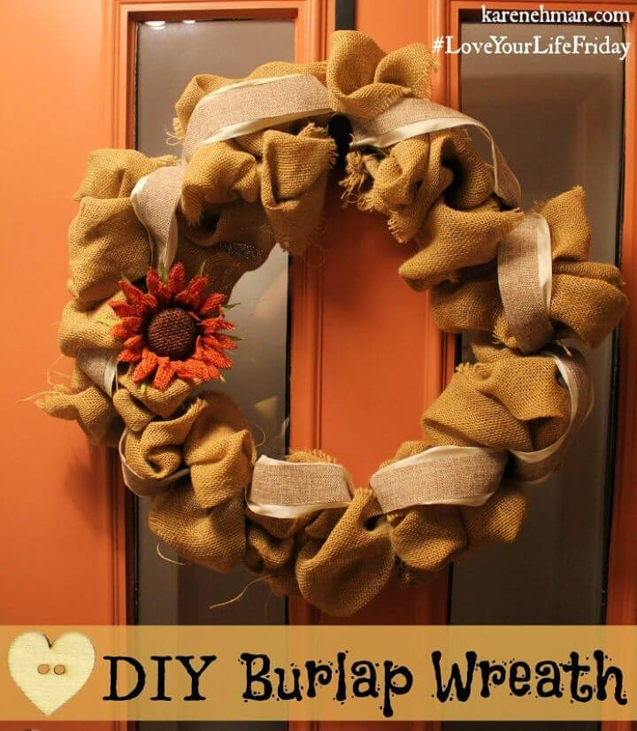 Make Your Own Burlap Wreath