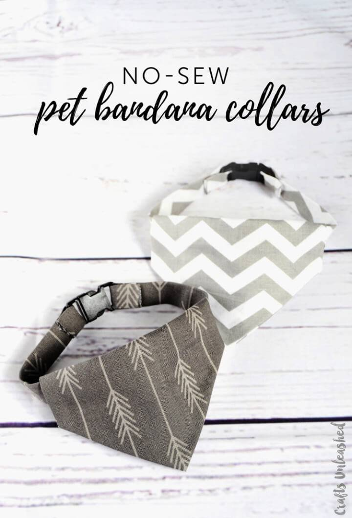 Make Your Own Dog Collar Bandanas