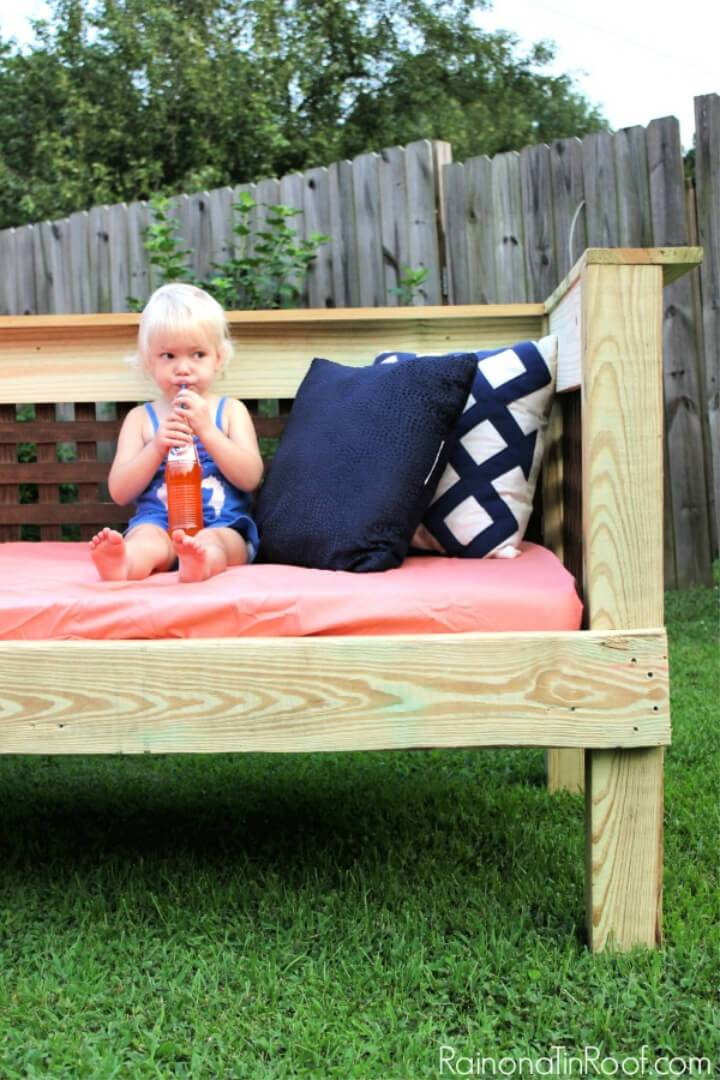 Make Your Own Plywood Outdoor Daybed