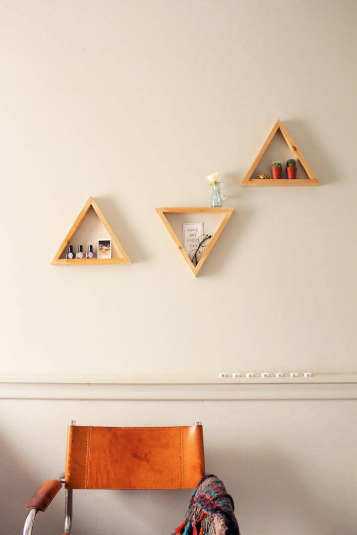 Make Your Own Triangle Shelves