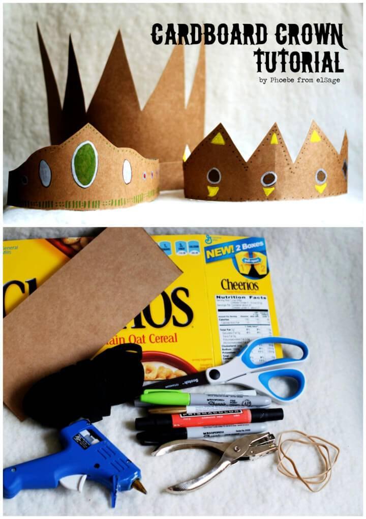 Make a Cardboard Crown Kids Craft