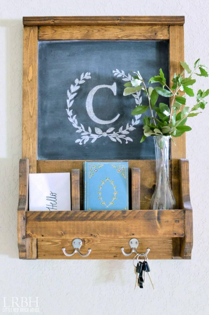 Make a Chalkboard Command Station