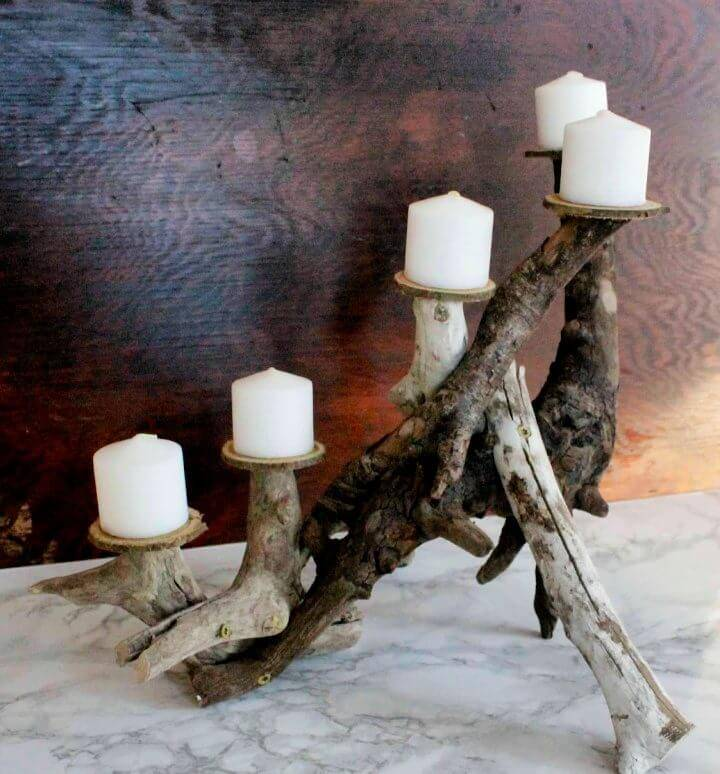 Make a Driftwood Candle Centerpiece