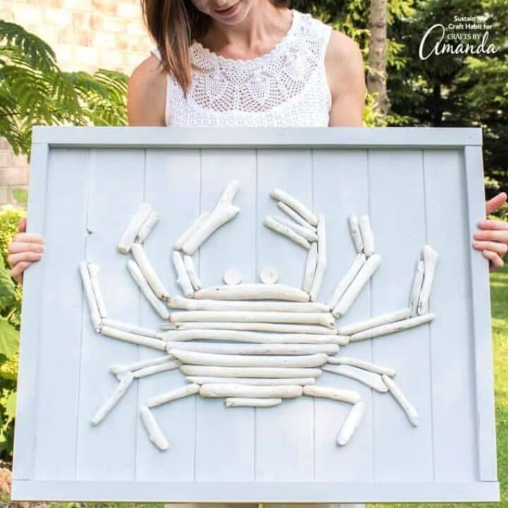 Make a Driftwood Crab Wall Art