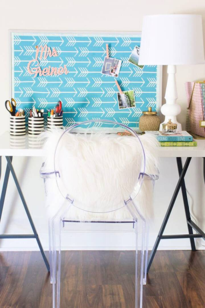 Mod Podge Fabric Bulletin Board