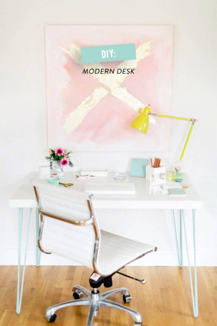Modern DIY Ikea Hack Desk