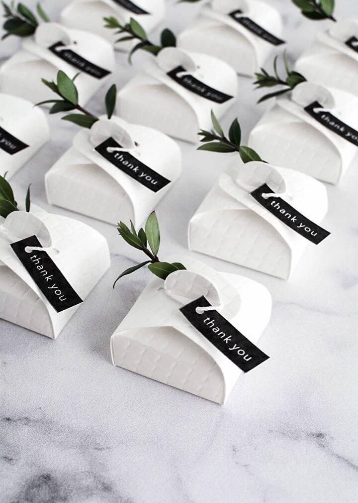 Modern DIY Wedding Favors