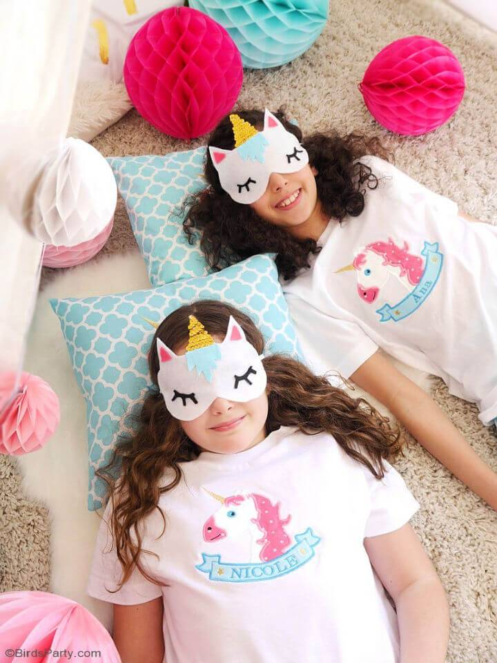No Sew Unicorn Sleeping Masks