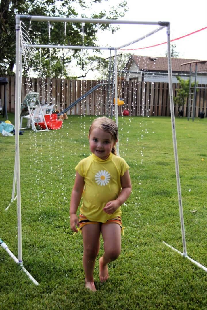 PVC Pipe Sprinkler and Kid Wash