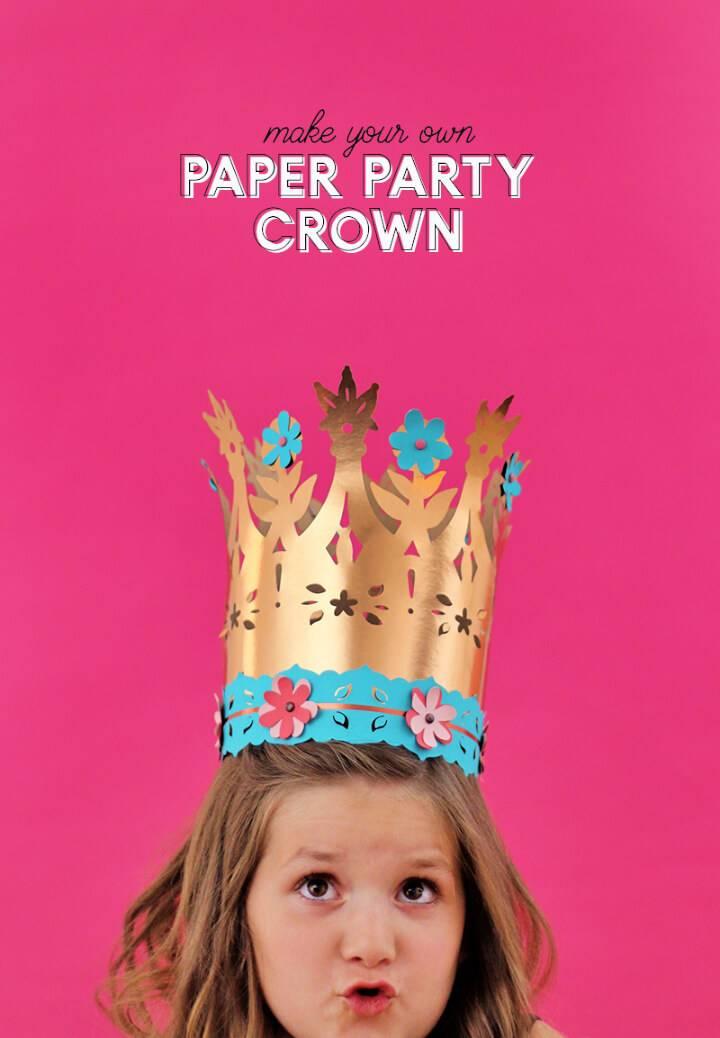 Paper Crowns for Celebrating Kids' Birthdays