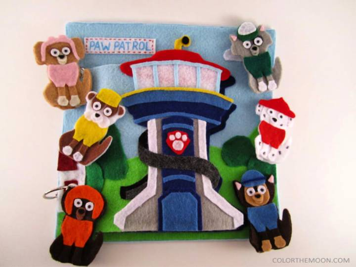 Paw Patrol Finger Puppets Quiet Book