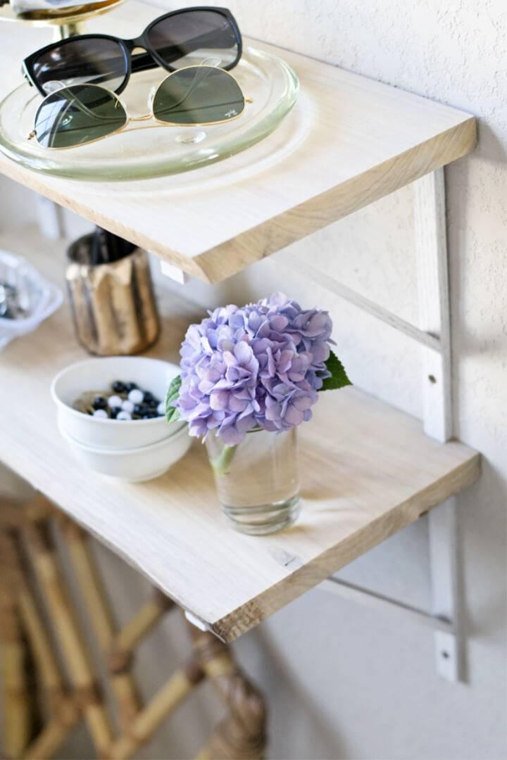Pretty DIY Live Edge Shelf