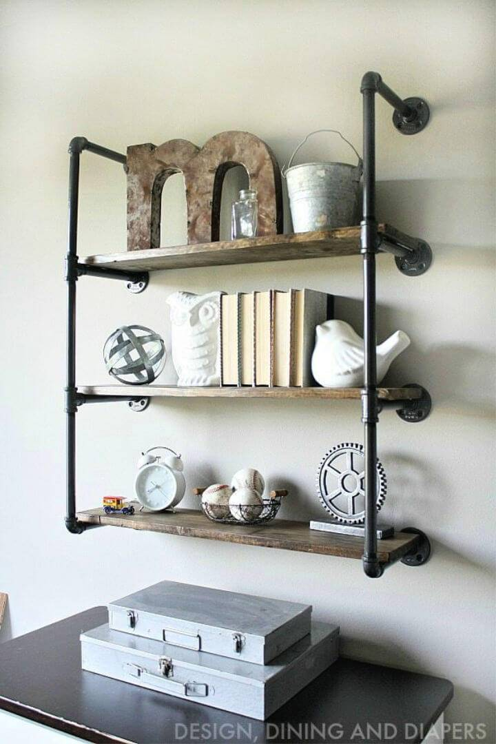 Pretty Easy Build Industrial Piping Shelves