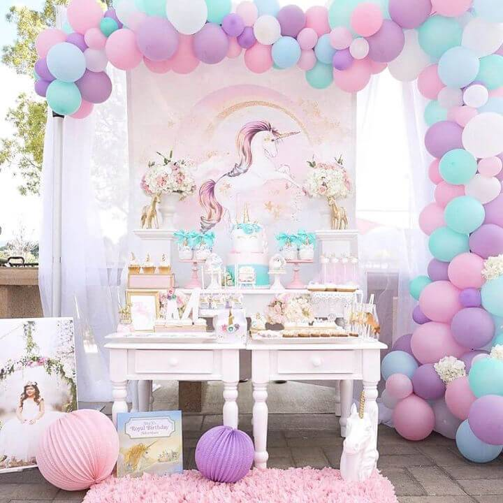 Purple and Gold Unicorn Party