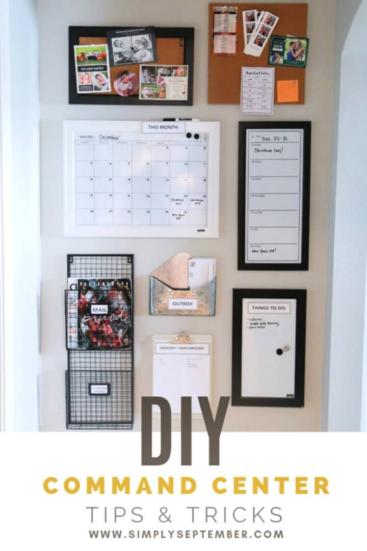 Quick and Inexpensive DIY Command Center