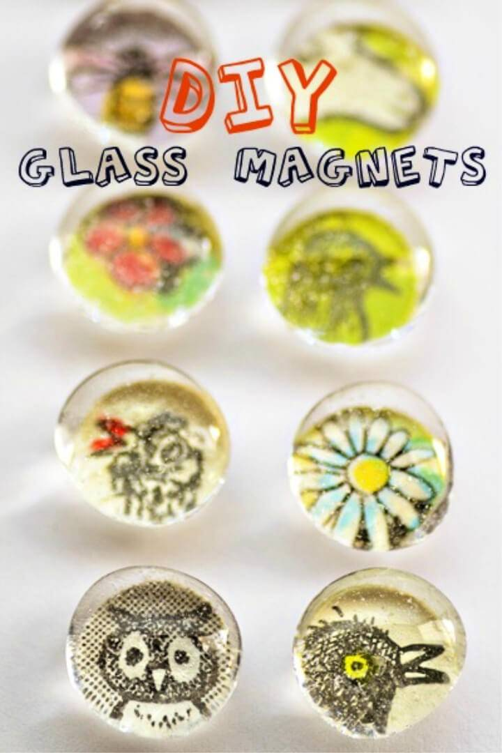 Quick to Make Glass Magnets