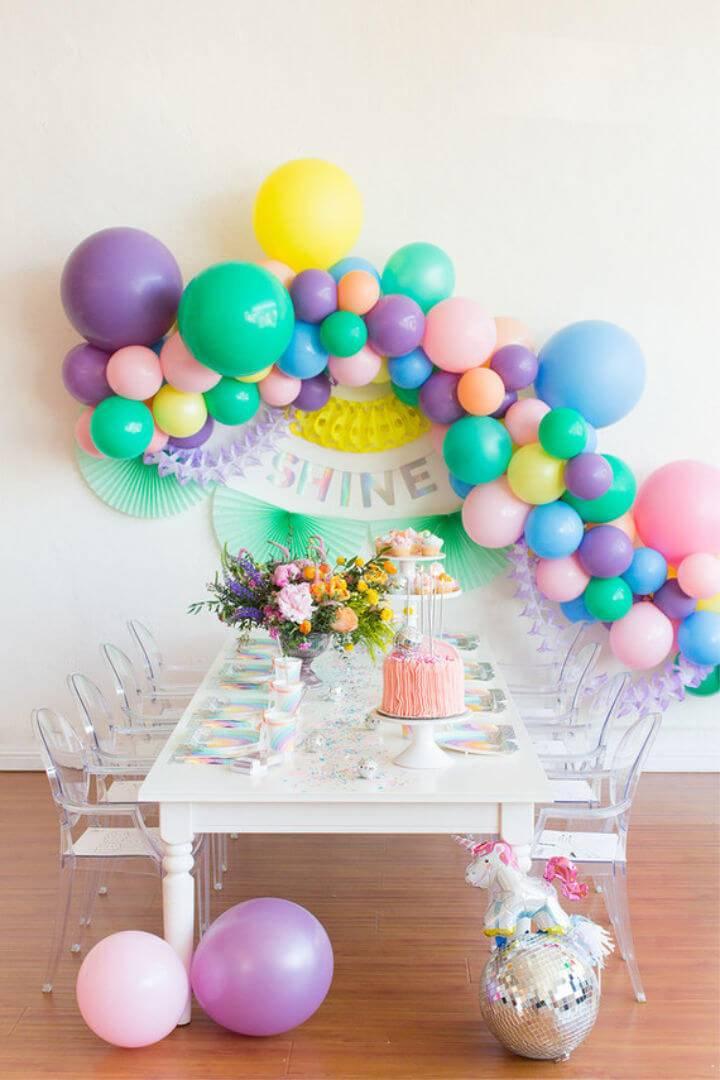 Rainbow Pastel Unicorn Birthday Party