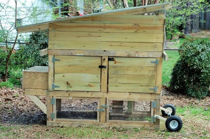 Reclaimed Chicken Tractor