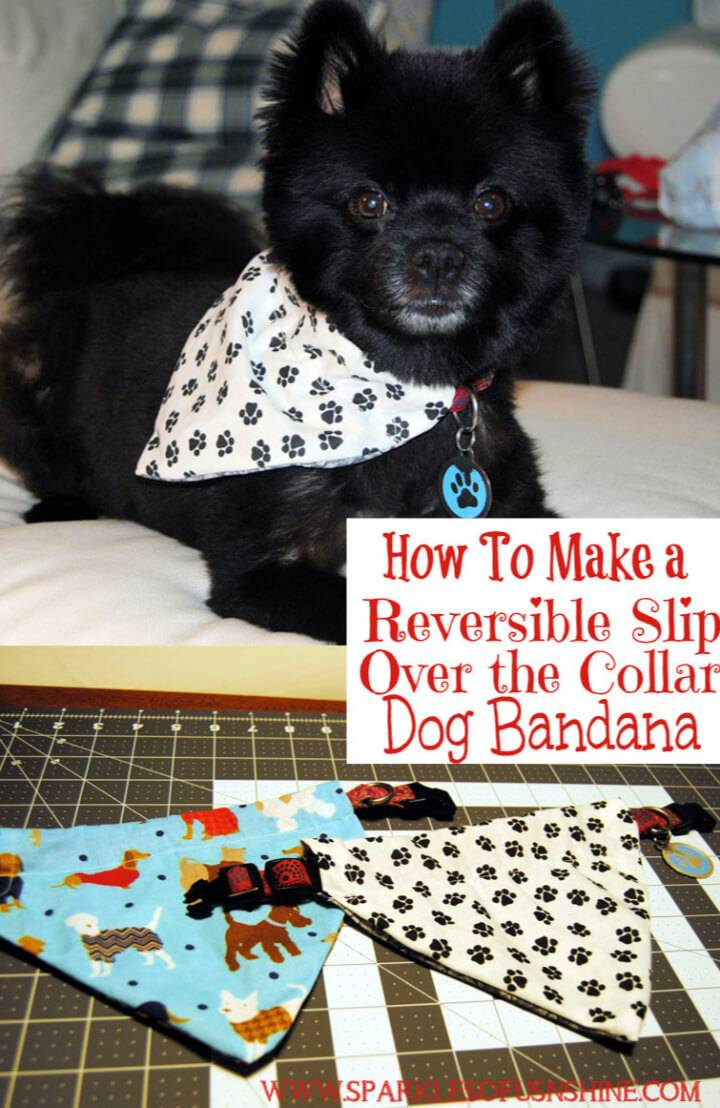 Reversible Slip Over The Collar Dog Bandana
