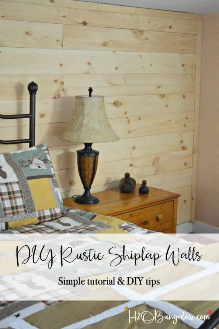 Rustic DIY Shiplap Walls