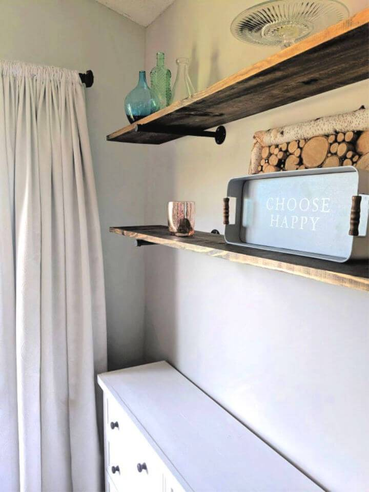 Simple Cute DIY Pipe Shelves