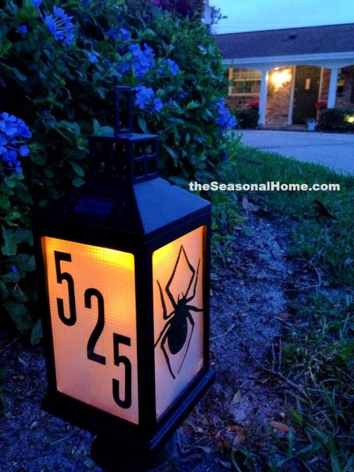Solar Address Lantern for Your Front Garden