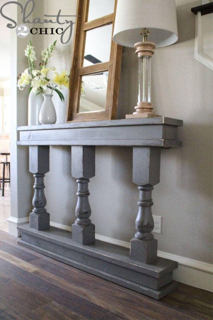 Space Saving DIY Console Table