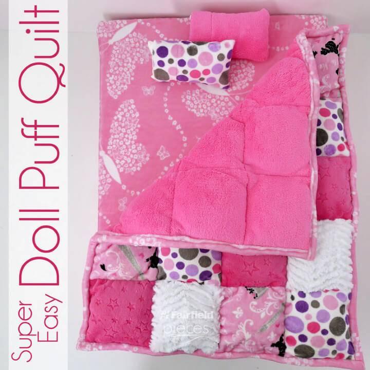 Super Easy DIY Doll Puff Quilt