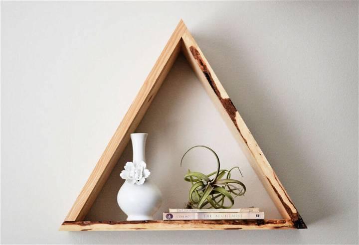 Super Easy DIY Triangle Shelves