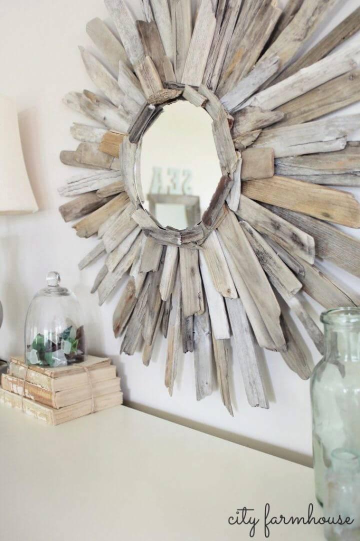 Thrifty Pretty DIY Driftwood Mirror 1