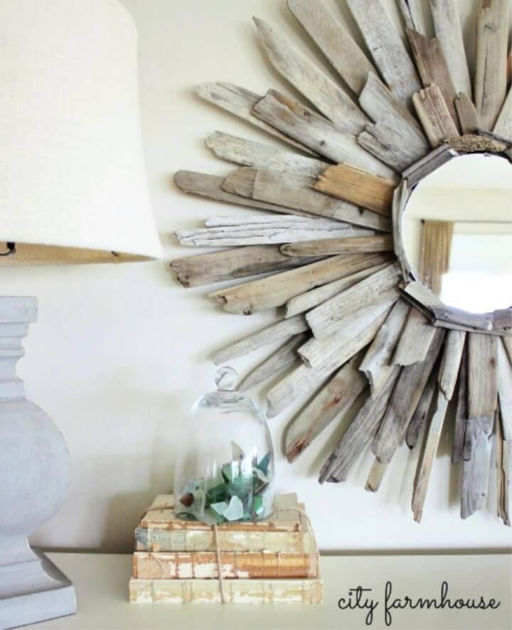 Thrifty Pretty DIY Driftwood Mirror