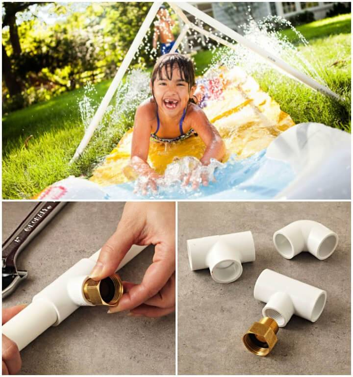 Tunnel of fun Water Sprinkler with PVC