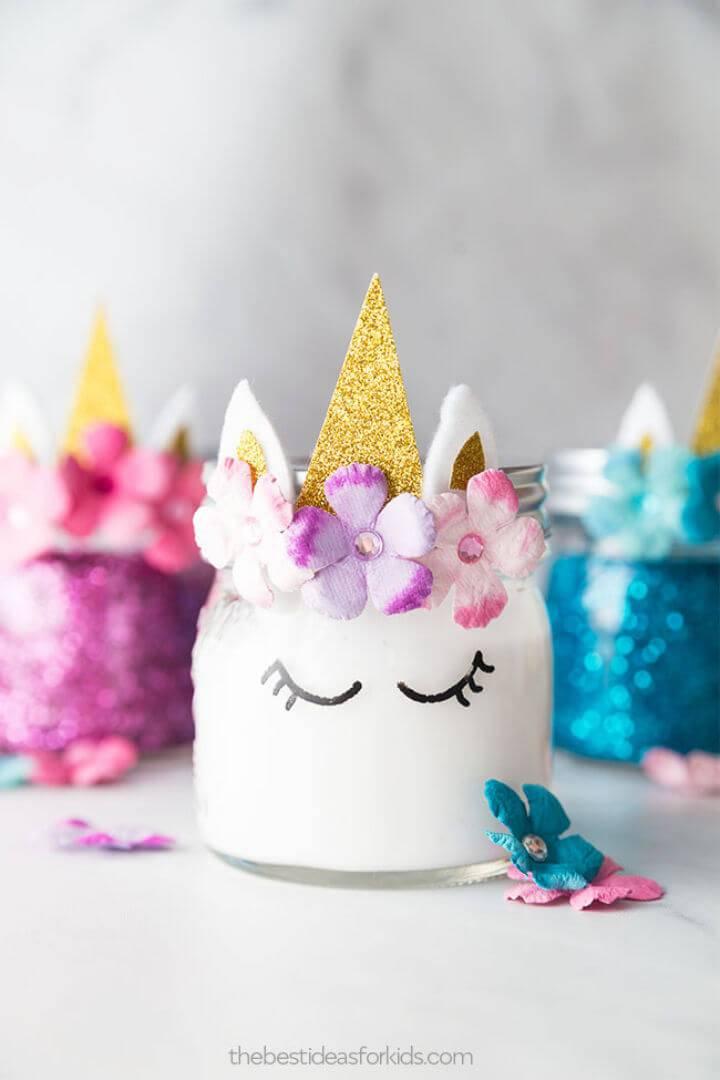 Unicorn Slime Jars