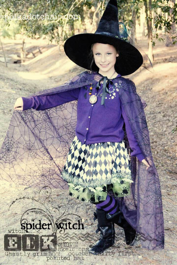 Unique Witch Costume for Halloween