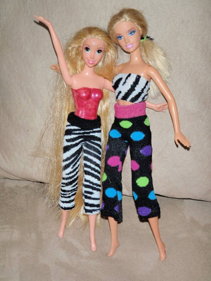Upcycle Socks into Barbie Clothes