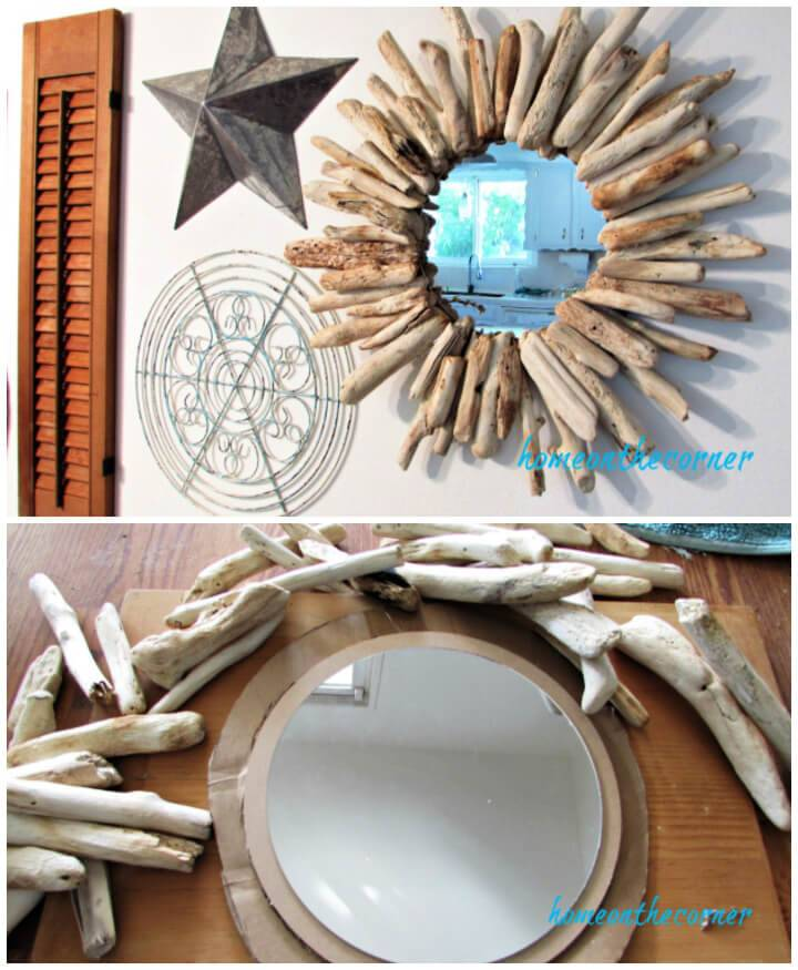Wonderful DIY Driftwood Mirror