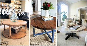 15 Best DIY Round Coffee Table Ideas Free Plans