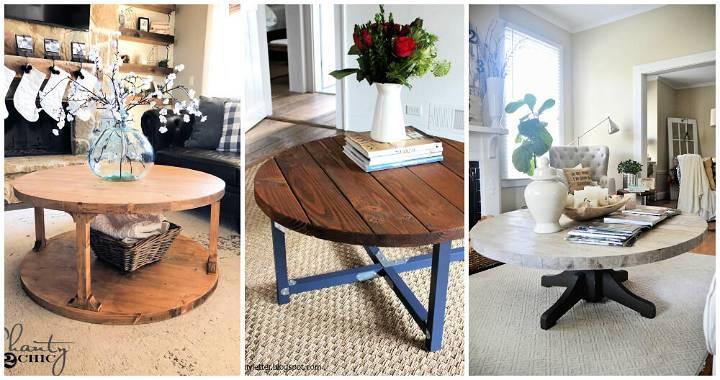 15 Diy Round Coffee Table Ideas Free Plans Diy Crafts