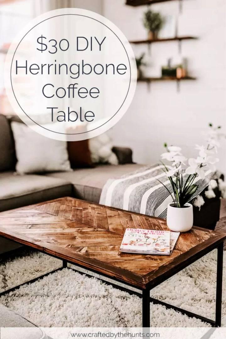 30 Herringbone Coffee Tabletop