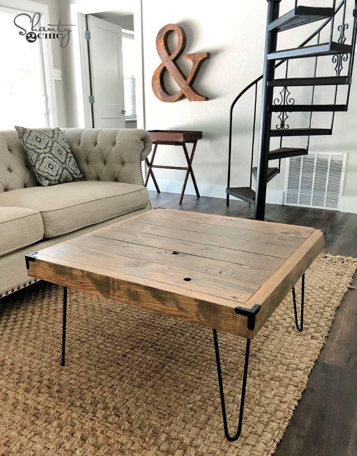 50 Square Hairpin Leg Coffee Table