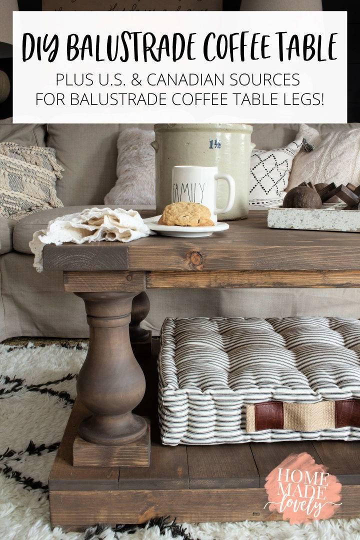 Adorable Balustrade Coffee Table