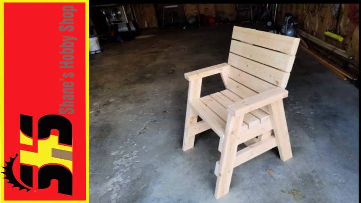 Adorable DIY 2x4 Adirondack Chair