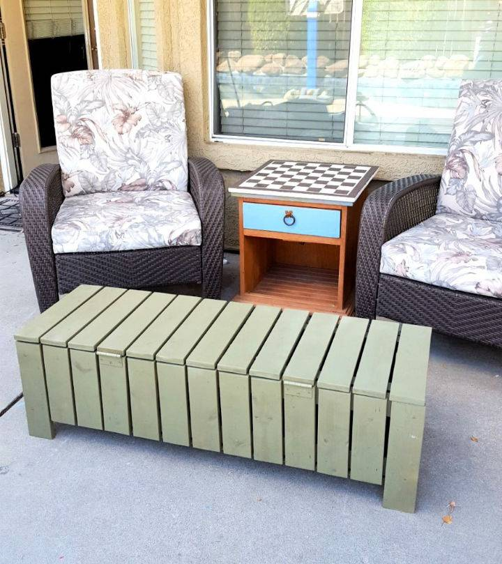 An Outdoor Coffee Table Storage Bench