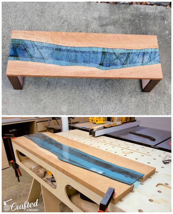 Build a Live Edge River Coffee Table