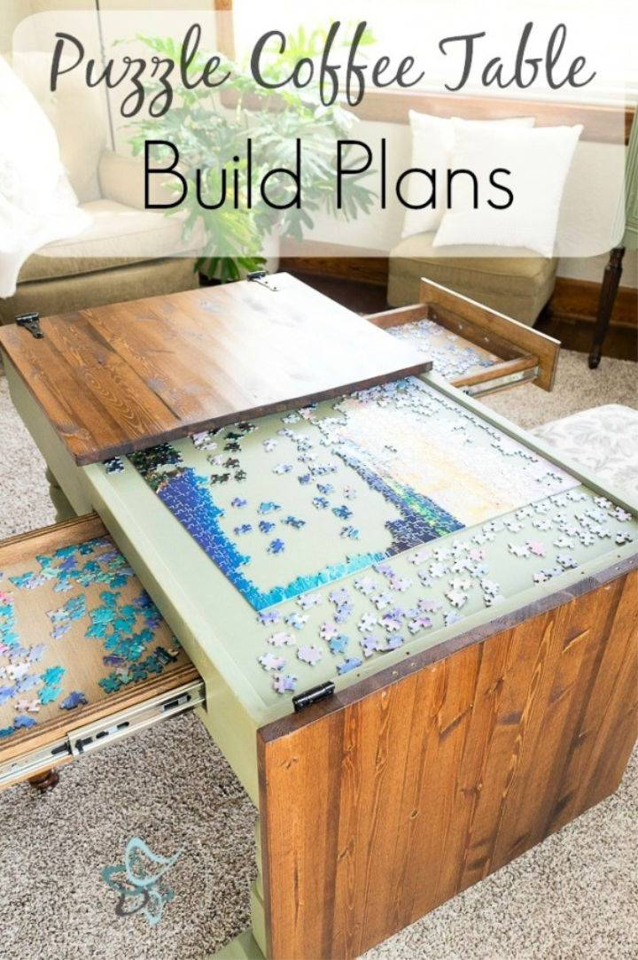 Build a Puzzle Coffee Table
