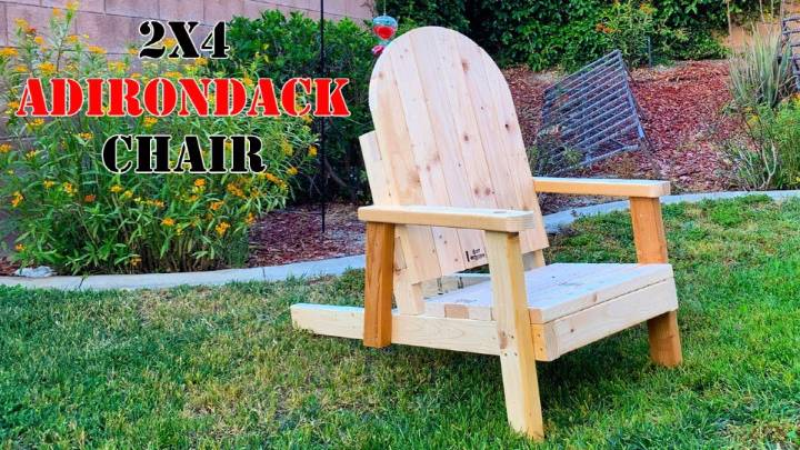 Build an Adirondack Chair Out Of 8 2x4s