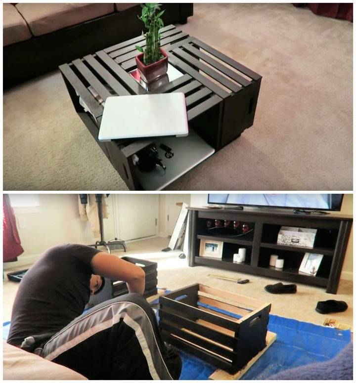 Coffee Table Out Of Crates